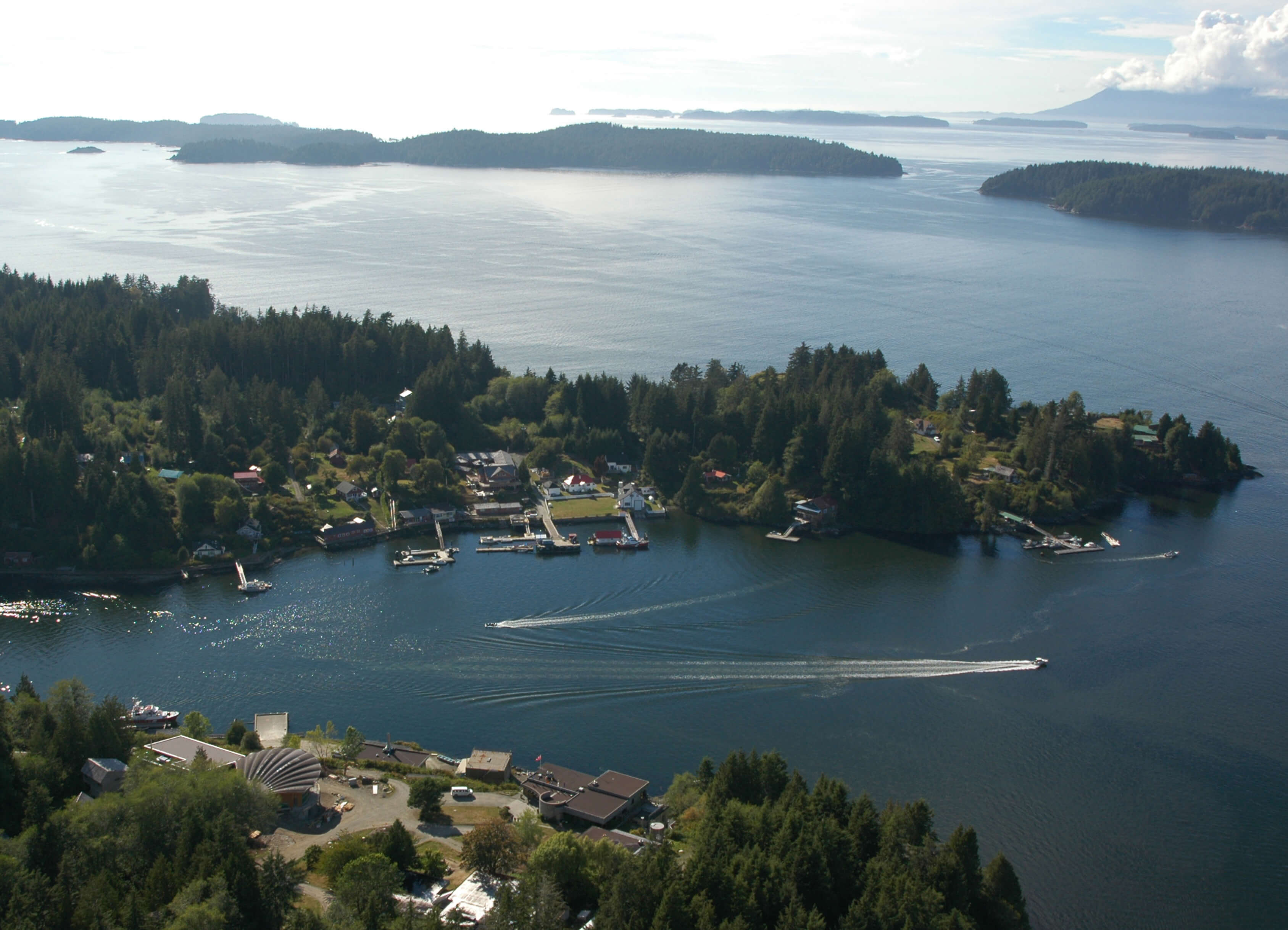 Bamfield aerial photo