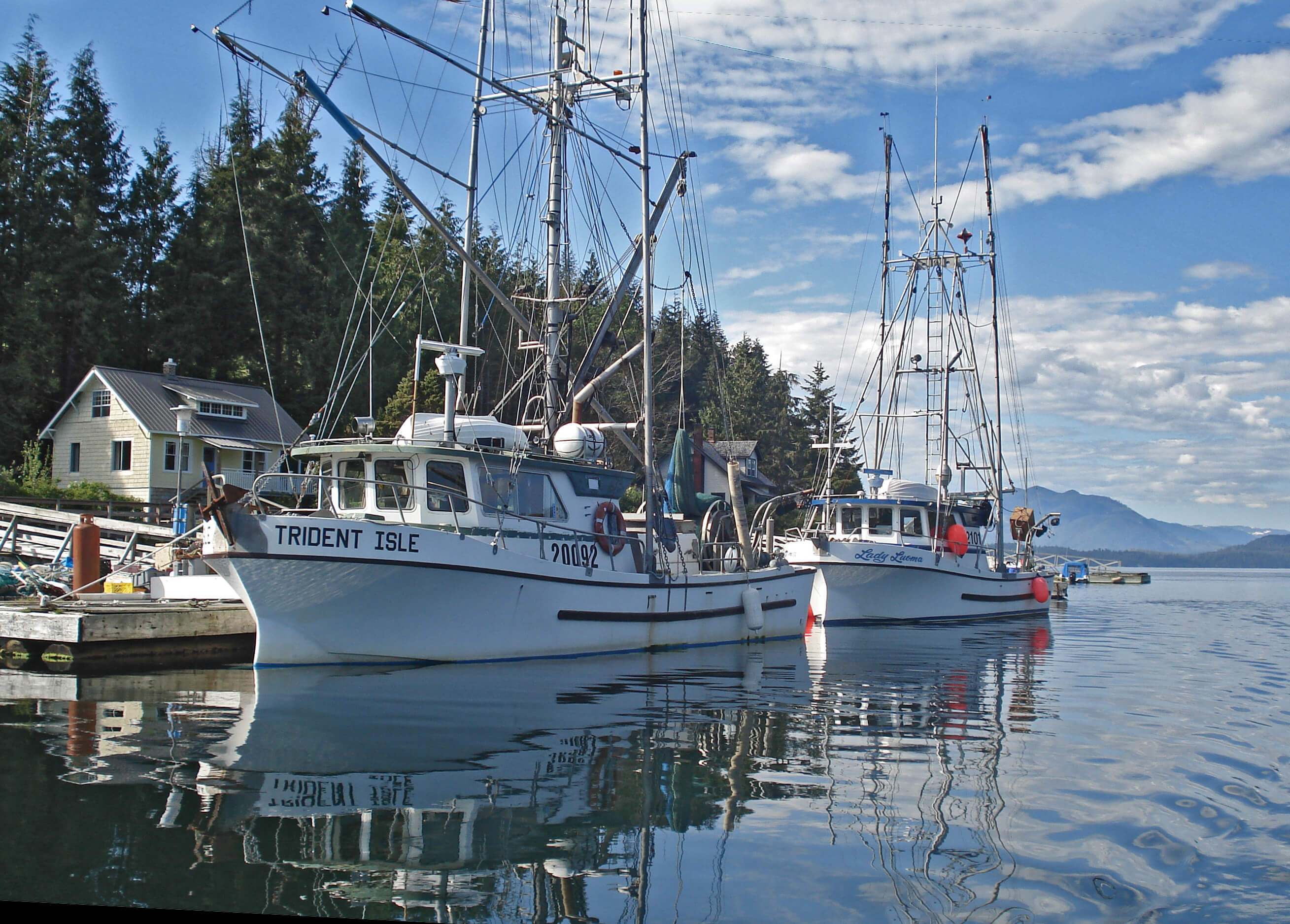 Fishing Boats in the Bamfield Harbour